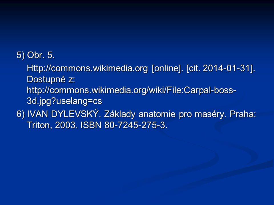 5) Obr. 5. Http://commons.wikimedia.org [online]. [cit. 2014-01-31]. Dostupné z: http://commons.wikimedia.org/wiki/File:Carpal-boss-3d.jpg uselang=cs.